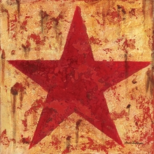 Rusty Star Canvas Wall Art