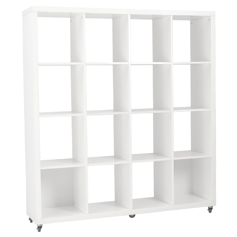 District Sabra Cube Bookshelves In White Bookshelves - Cube bookshelves