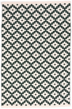 Samode Indoor/Outdoor Rug in Pine and Ivory