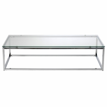 Sandor Coffee Table in Clear Glass and Chrome