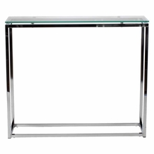 Sandor Console Table in Clear Glass and Chrome