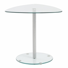 Sarafina Glass Side Table in Clear