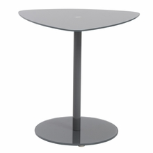 Sarafina Glass Side Table in Gray