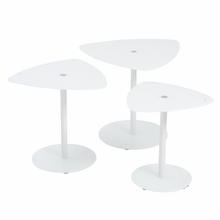 Sarafina Glass Side Table in Pure White