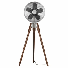 Satin Nickel Arden Standing Floor Fan