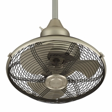 Satin Nickel Extraordinaire Cage Ceiling Fan