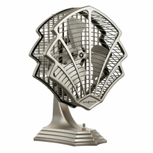 Satin Nickel Fitzgerald Desk Fan