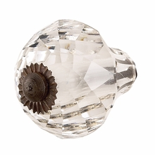 Savannah Crystal Faceted Knob