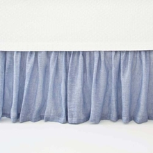 Savannah Linen Chambray French Blue Bed Skirt