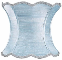 Scallop Hourglass Extra Large Lamp Shade in Ice Blue