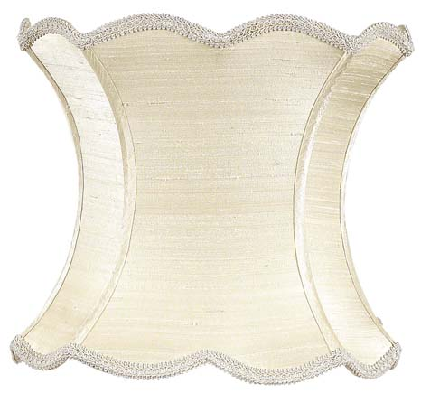 district17 scallop hourglass extra large lamp shade in ivory shades. Black Bedroom Furniture Sets. Home Design Ideas