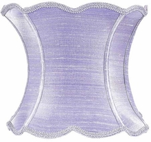 Scallop Hourglass Extra Large Lamp Shade in Lavender