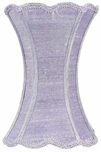 Scallop Hourglass Medium Lamp Shade in Lavender