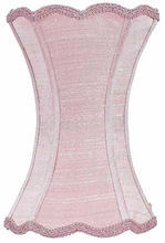 Scallop Hourglass Medium Lamp Shade in Pink