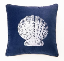 Scallop Shell Velvet Embroidered Pillow