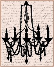Script Chandelier I Canvas Wall Art