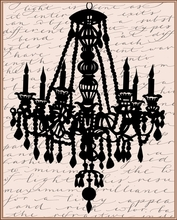 Script Chandelier II Canvas Wall Art