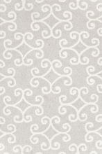Scroll Wool Micro-Hooked Rug in Platinum