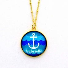 Sea Spray Anchor Name Pendant