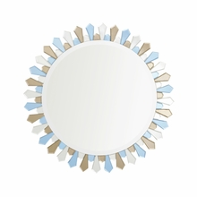Sepia and Clear Petal Mirror