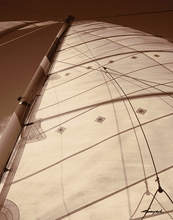 Sepia Tone Sailboat I Wall Art