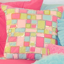 Sequin Patchwork Throw Pillow