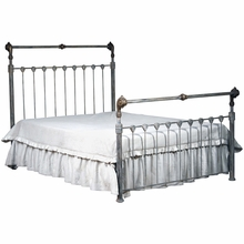Shabby Paris Chic Iron Queen Bed