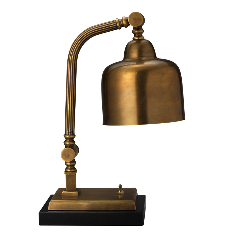 District17 Shanghai Desk Lamp In Antique Brass Lamps