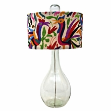 Shelly Glass Lamp in Bright Colors