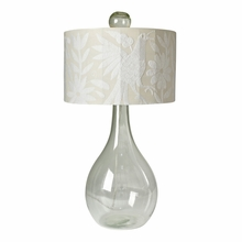 Shelly Glass Lamp in White
