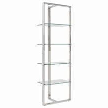 Sienna Shelving Glass Panels in Clear and Stainless Steel