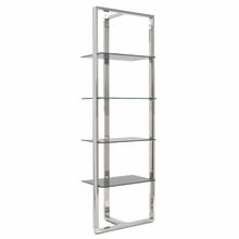 Sienna Shelving Glass Panels in Gray and Stainless Steel
