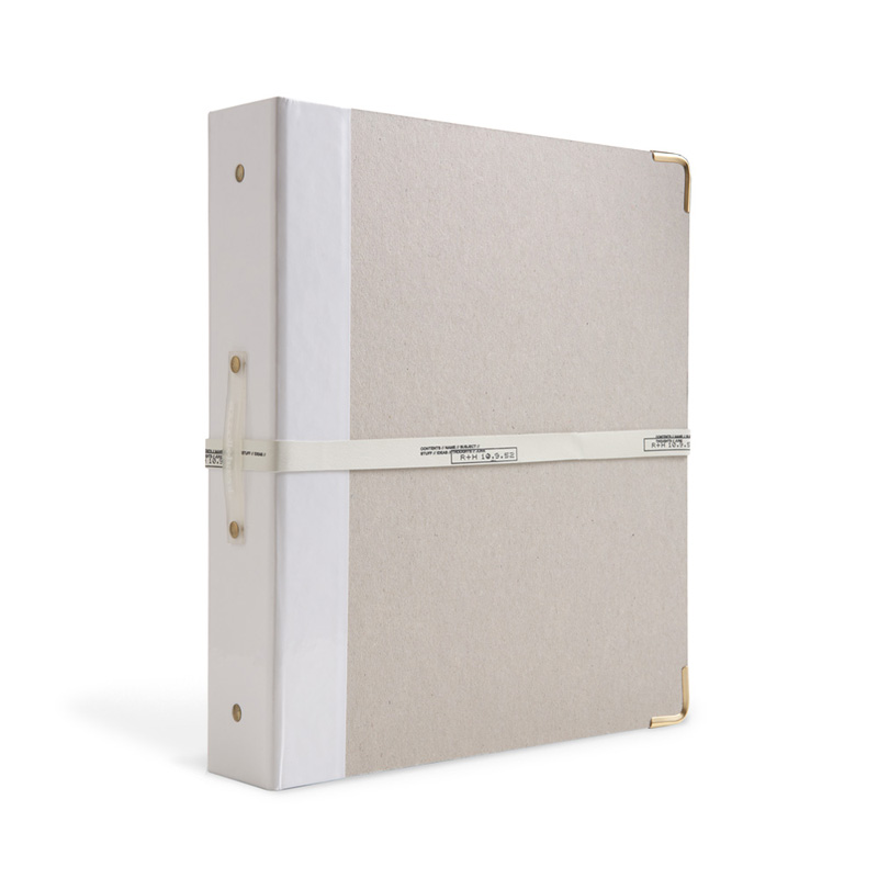 district17 signature 3 ring binder in white patent