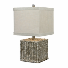 Silver Bamboo Square Table Lamp