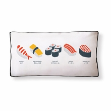 Simply Sushi Reversible Throw Pillow