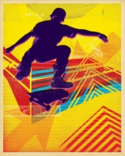 Skate Heist Neon Deux Canvas Wall Art