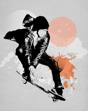 Skate Splash Canvas Wall Art