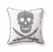 Skull Reversible Throw Pillow