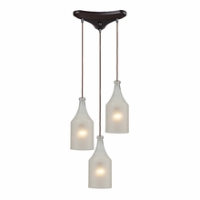 Skylar Bottle Pendant Trio In Oiled Bronze