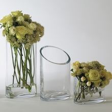 Slanted Glass Vase