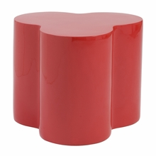 Sloan Stool in High Gloss Red