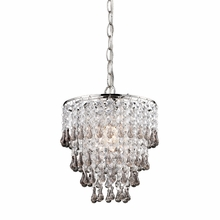 Smokey and Clear Crystal Mini Chandelier