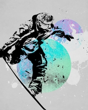 Snowboard Splash Canvas Wall Art