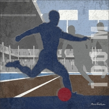Soccer 100 Meters Forward Canvas Wall Art