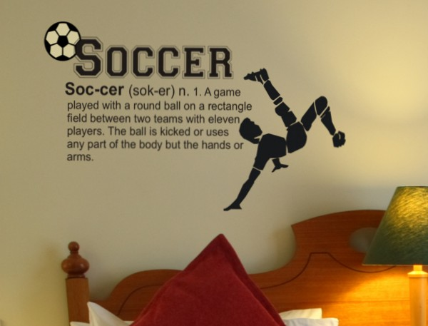 Soccer decals for walls