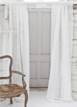 Solid Ivory Linen Window Curtain