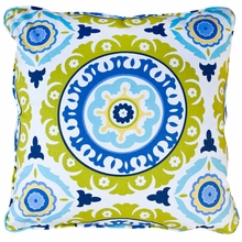 Solis Aqua Throw Pillow