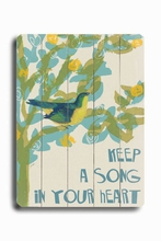 Song In Your Heart Vintage Wood Sign