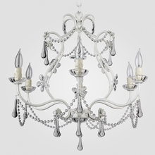 Sonja Matte White Clear Crystal Chandelier