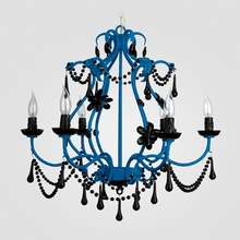 Sonja Neon Blue Black Crystal Chandelier